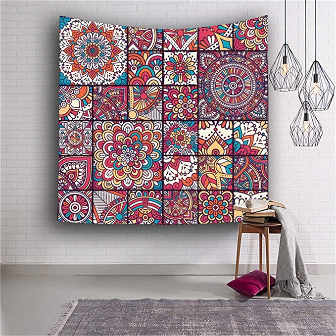 CYYCY Multi-Colored Mandala Tapestry Indian Wall Hanging ...