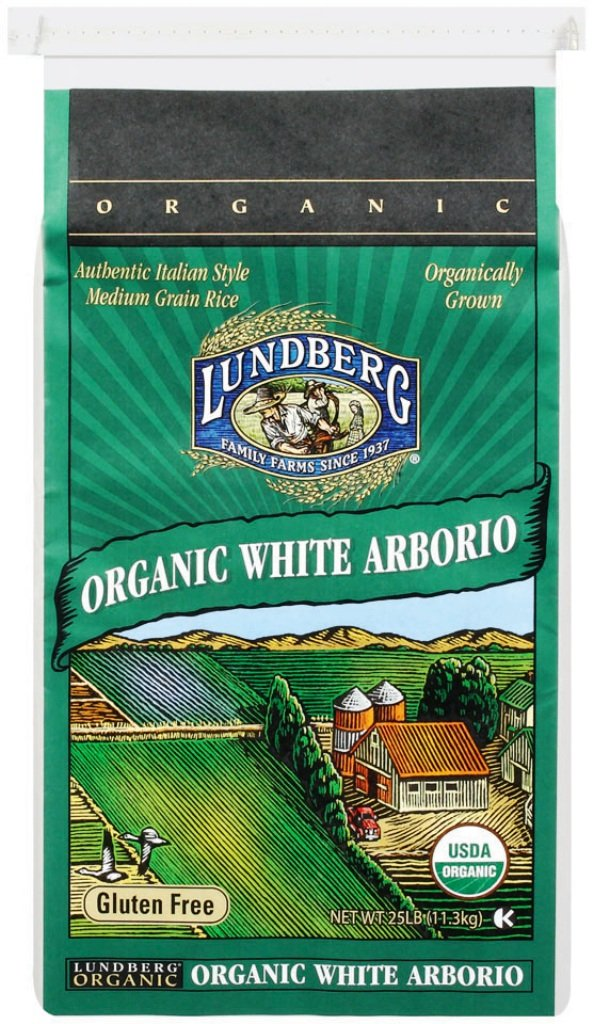 Lundberg Organic California White Arborio Rice, 25-Pound