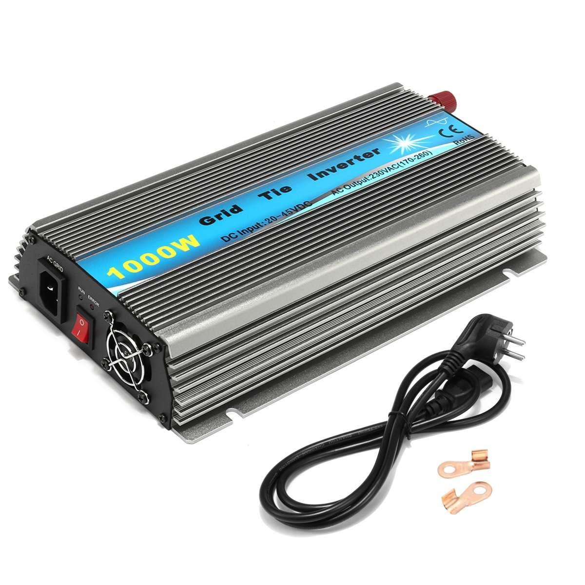 WonVon 1000W Grid Tie Inverter,110V Power Inverter DC 22-50V MPPT Pure Sine Wave Inverter for Solar Panel System by WonVon