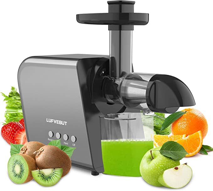 Amazon.com: Slow Juicer Machine for Vegetables and Fruits, Home Cold Press Masticating Juicer Extractor Quiet Motor Reverse Function, BPA-Free Easy to Clean with Brush, for Celery Wheatgrass Leafy Greens Ginger: Kitchen & Dining