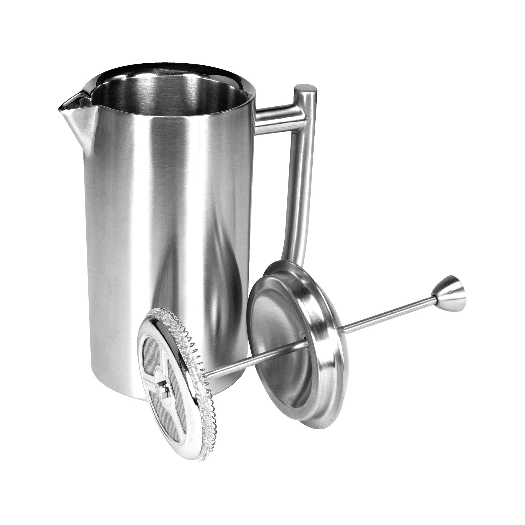 Frieling USA 131 Double Wall Stainless Steel French Press Coffee Maker with Patented Dual Screen, 44-Ounce, Brushed by Frieling (Image #2)