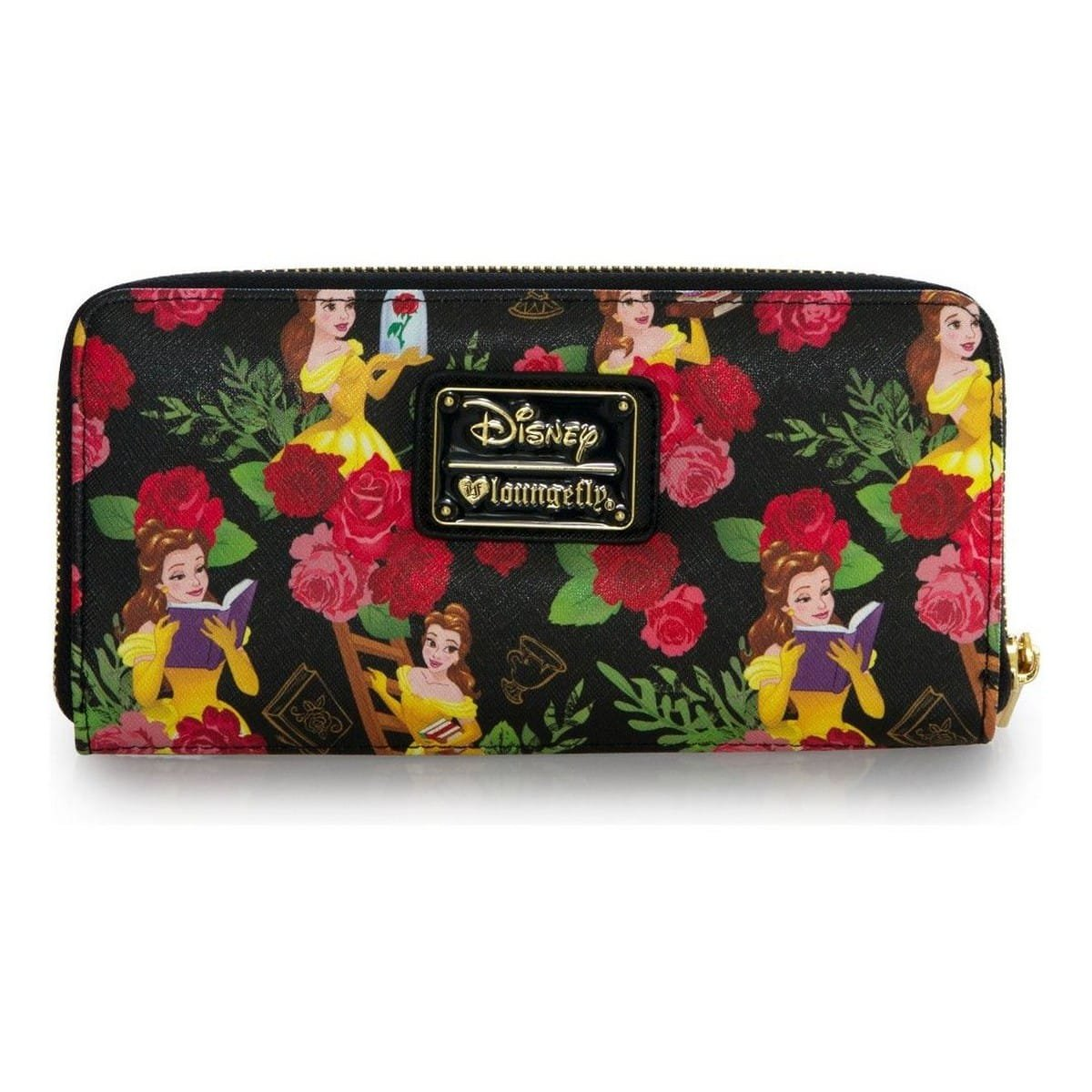 c21d722f3161 Loungefly Disney Beauty And The Beast Belle Floral Zip Around Wallet   Amazon.co.uk  Clothing
