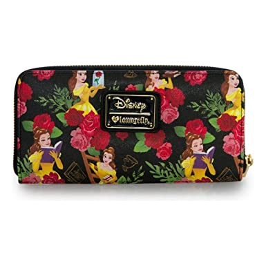 298aea637f51 Image Unavailable. Image not available for. Colour  Loungefly Disney Beauty  And The Beast Belle Floral ...