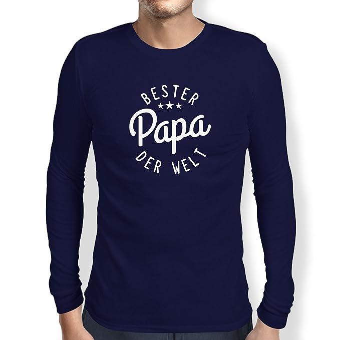 Texlab Bester Papa der Welt - Herren Langarm T-Shirt: Amazon.de: Bekleidung