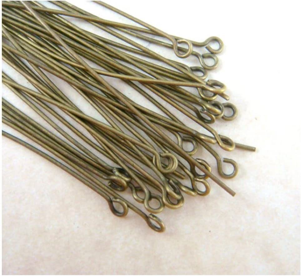 200pcs Top Quality Silver Eye Pins 35mm for Jewelry Beading Craft Making CF157-35 wire~21GA