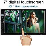 KKmoon 7 inch Universel 2 Din HD Voiture Autoradio Lecteur Bluetooth DVD USB / TF /FM / MP5 Aux In avec HD caméra de recul écran tactile