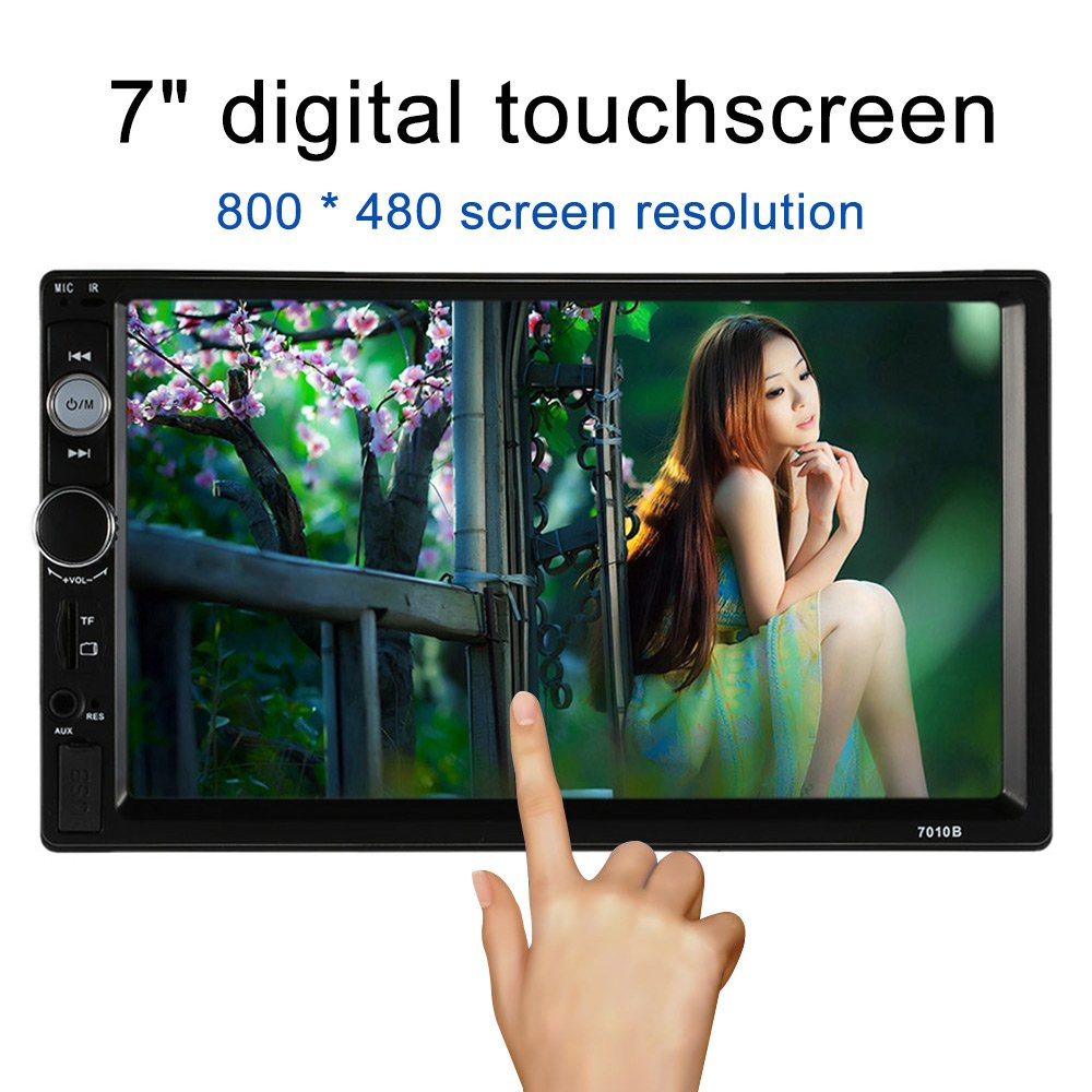 KKmoon Universal 7 Zoll 2 Din Auto-Stereoanlage UKW-Radio MP5 Player mit HD Touch-Screen Unterst¨ ¹ tzt BT USB/TF Aux-Eingang 7018B
