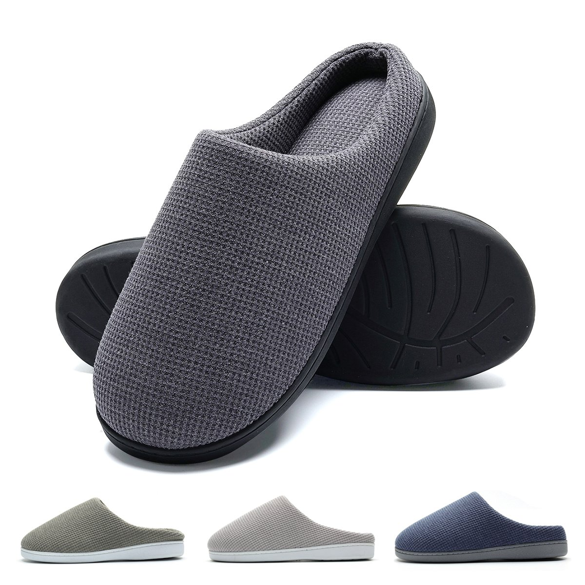 TALLA 40/41 EU X-Ancho. Zapatillas de casa de Hombre, Ultraligero cómodo y Antideslizante, Zapatilla de Estar por casa para Hombre