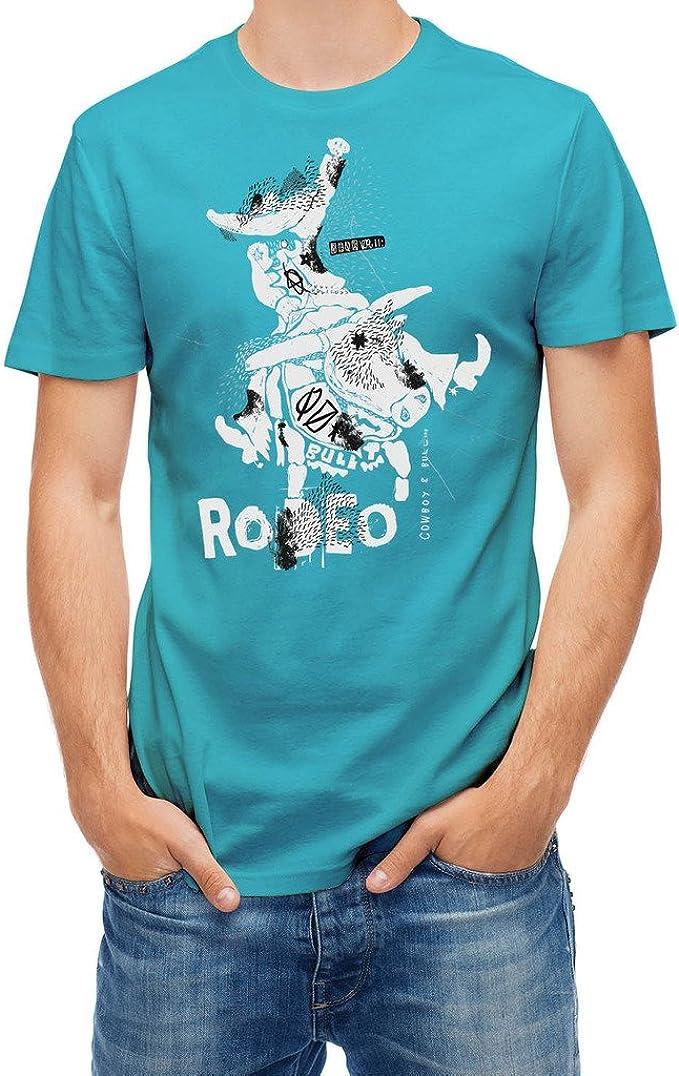 Bulls Camiseta de Vaquero sobre Toro Rodeo Azul Atoll S: Amazon.es: Ropa y accesorios