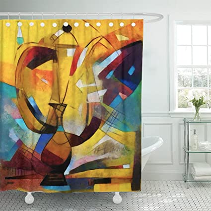 Amazon TOMPOP Shower Curtain Alternative Reproductions Of