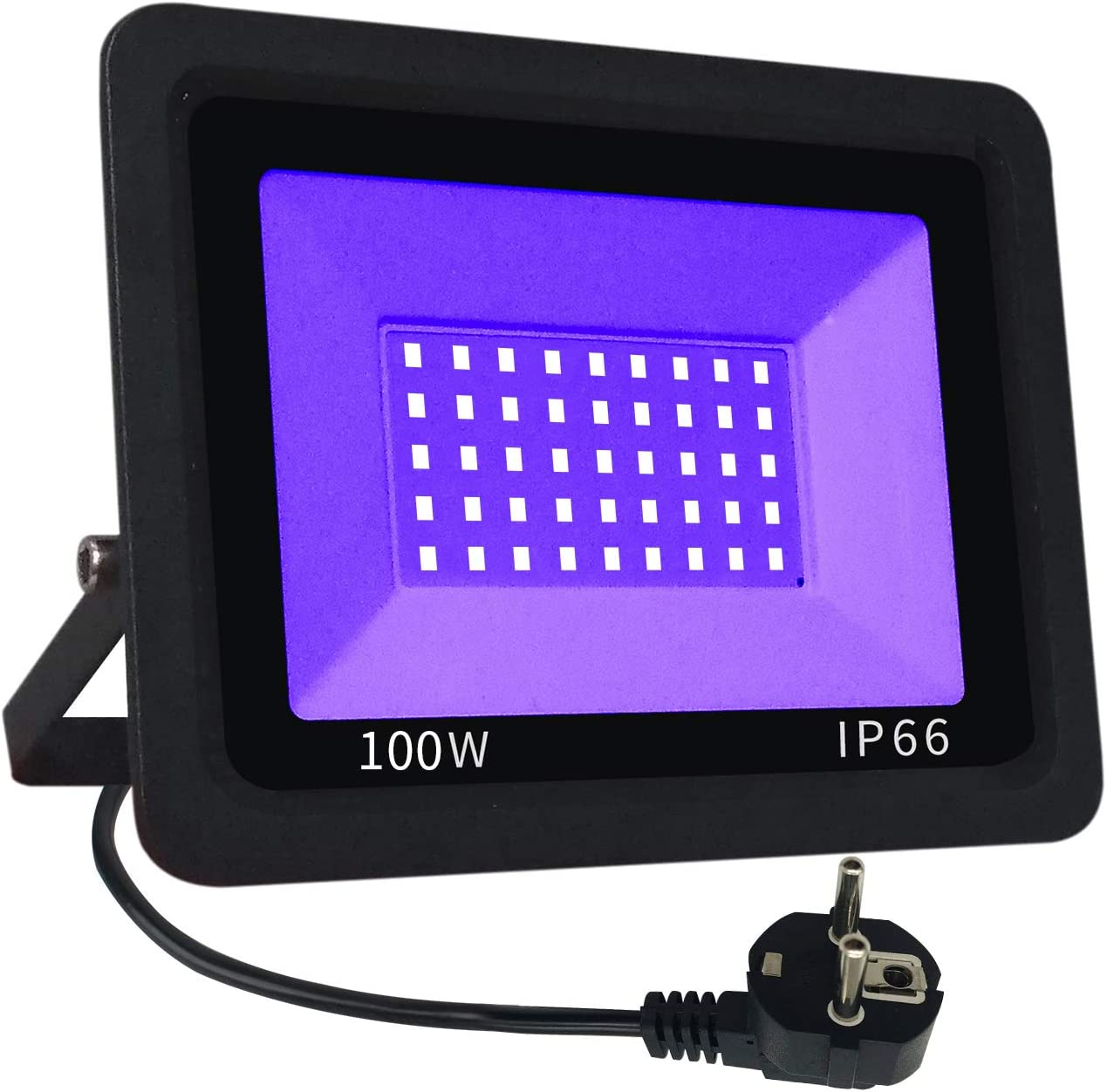 UV Luz negra LED Eleganted 100W LED decorativa violeta Etapa,IP65 Impermeable UV-A 395-400nm