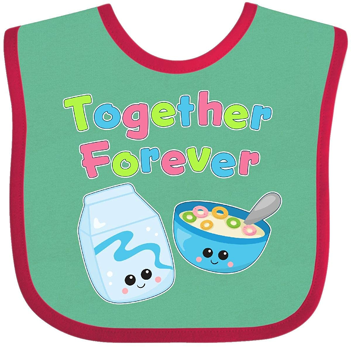 Inktastic - Together Forever- Milk and Cereal Baby Bib 2823e 14-164414-116-1385-5031