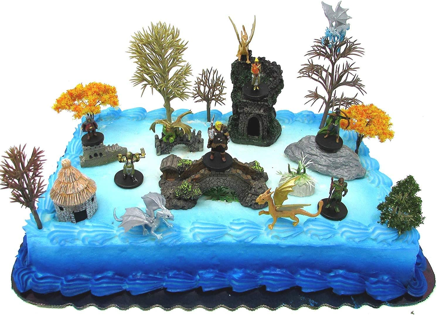 Super Cake Toppers Dungeons Dragons Deluxe Birthday Cake Topper Set Personalised Birthday Cards Cominlily Jamesorg