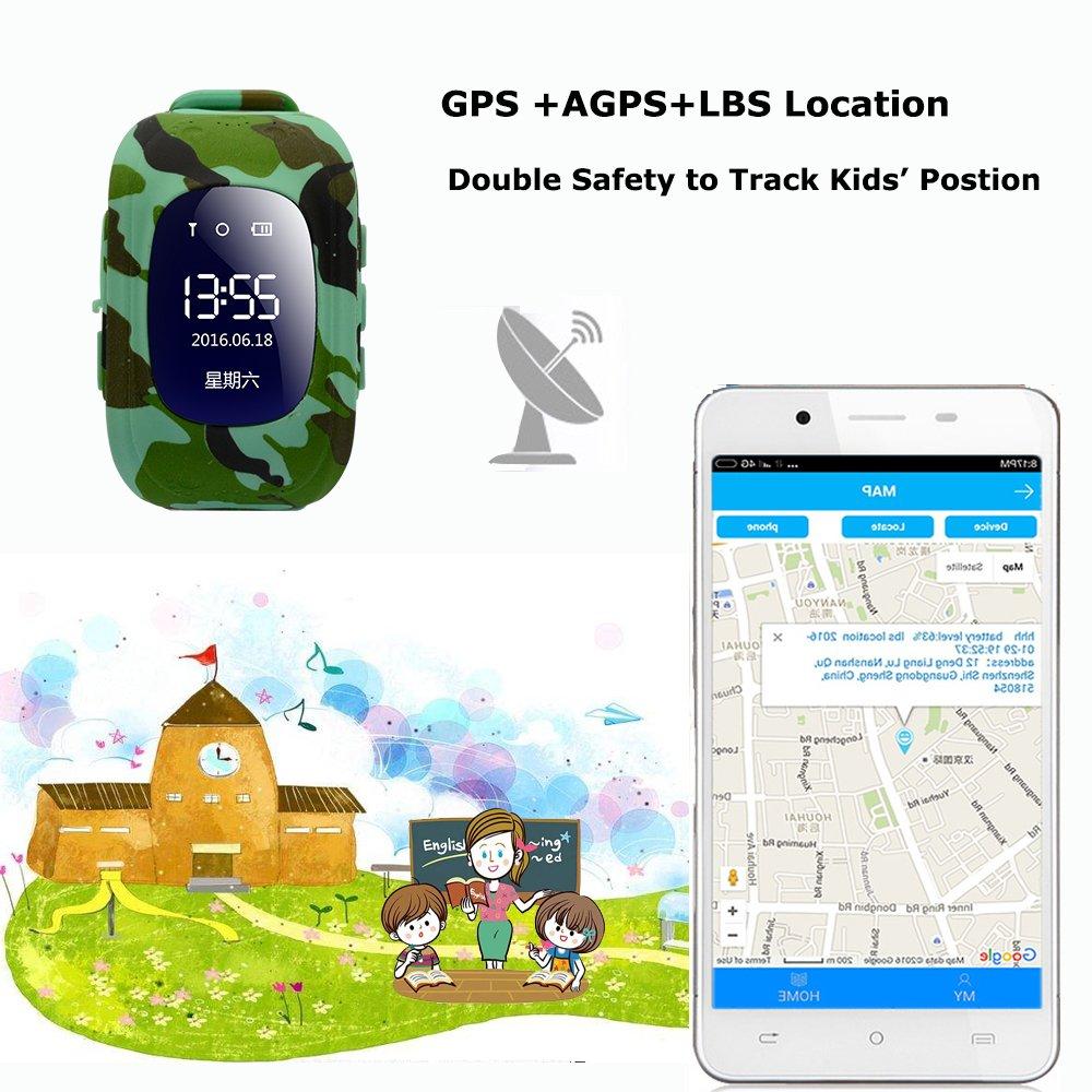 Reloj Inteligente para niños, 9Tong GPS Tracker Teléfono para ...