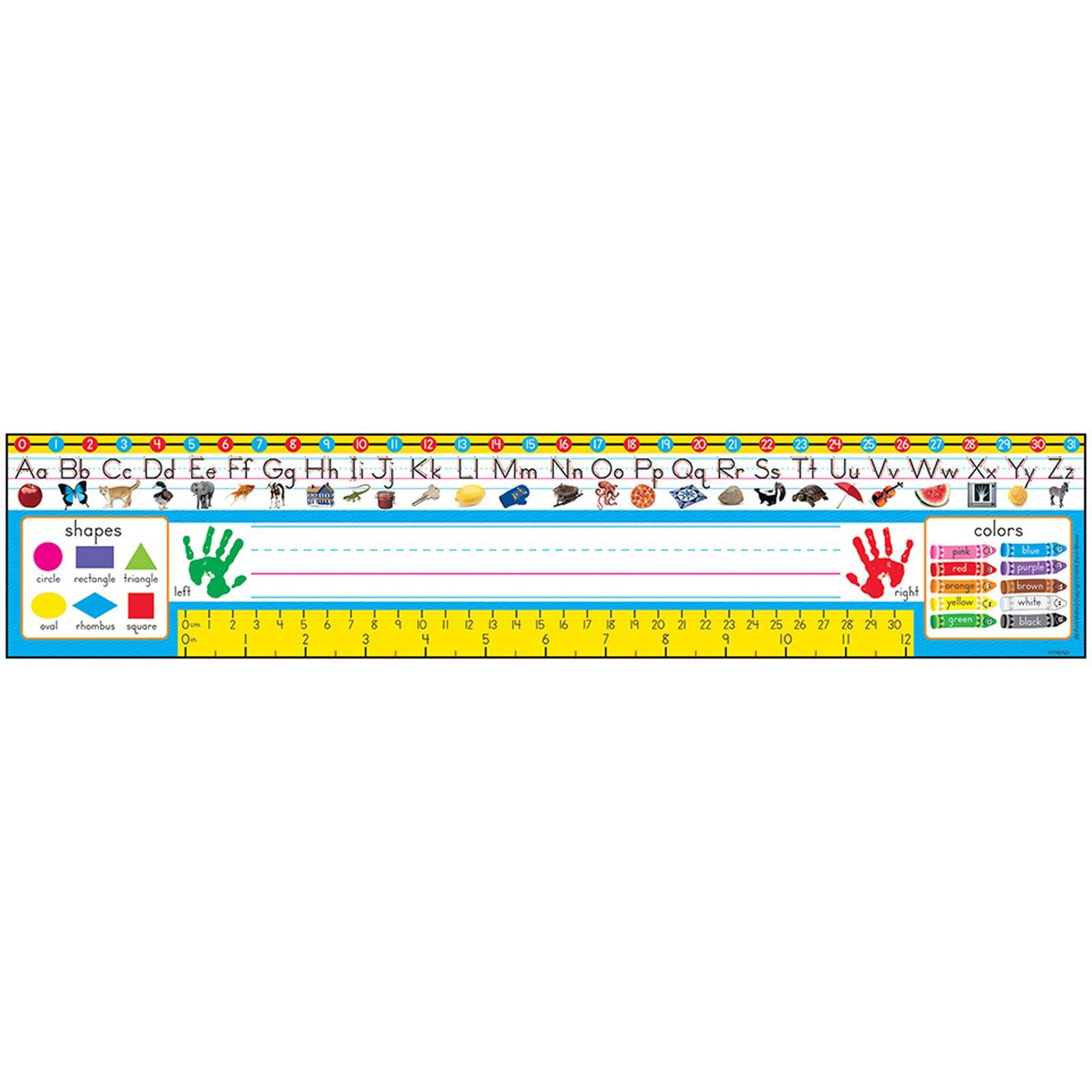 Desk Toppers® Reference Name Plates: Pre-kindergarten to Grade 1 (Zaner-Bloser)