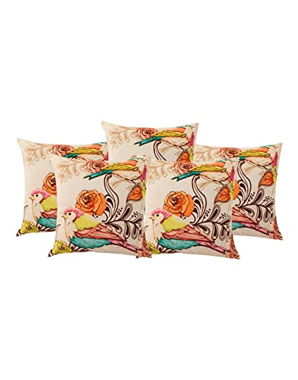 Buy Decorative Cotton Cushion Covers Off White Indian Ethnic Simple Custom Affordable Decorative Bed Pillows