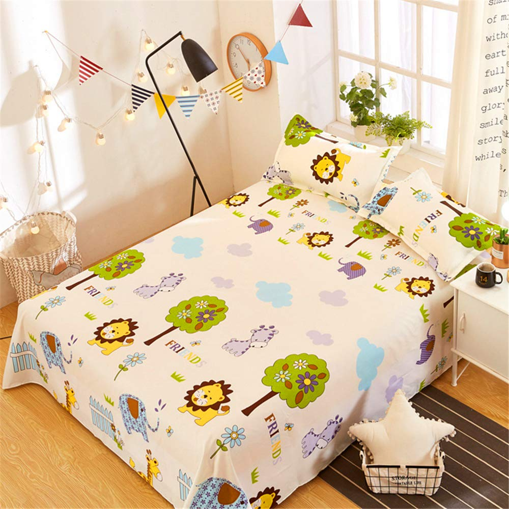 Single Single Bed is Single ice Silk 1.8 Meters 1.2 Summer one Meter Two Sheets Single Summer European and American Style bunk y Animal Family 1.82.3m by iangbaoyo