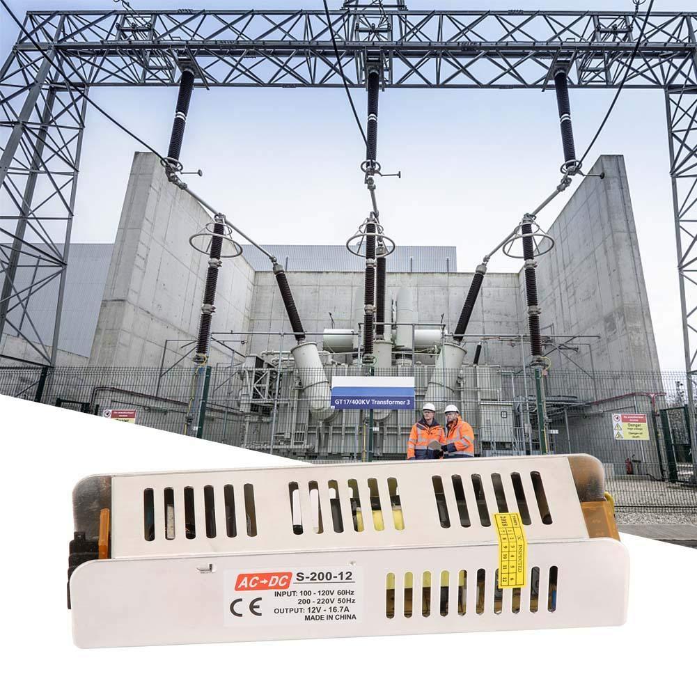 Alimentatore Stabilizzato per striscia bobina a LED switch trimmer AC 100V~220V DC 12V 12 A // 16.5A 150 W 12V 200W 200 W Classe di efficienza energetica A