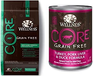 Wellness Well Pack: Core Wild Game Grain Free Wet Canned & Dry Dog Food