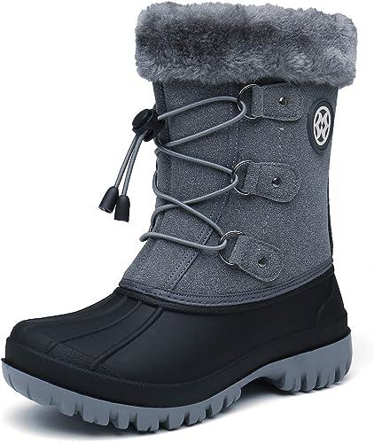 KVbabby Schneestiefel Mädchen Jungen Winterstiefel Kinder Stiefel Schneeschuhe Winterschuhe Warm Gefüttert Wanderstiefel rutschfeste Stiefeletten