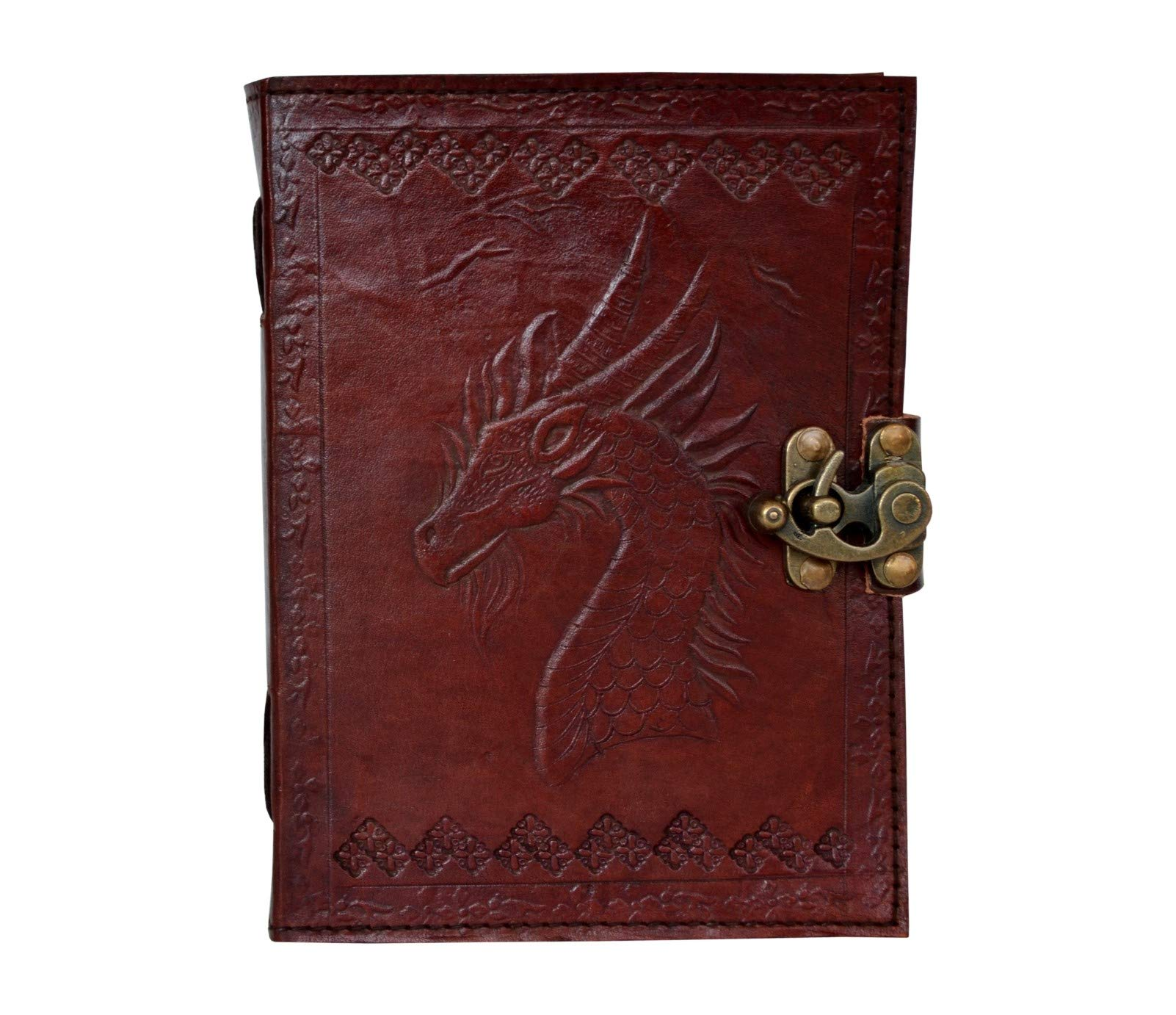 Games of Thrones Dragon Embossed Handmade Leather Journal Notebook Diary Antique Writing Handbook Daily Planner Diary College Sketchbook Unlined Paper 5 x 7 inches for Men and Women