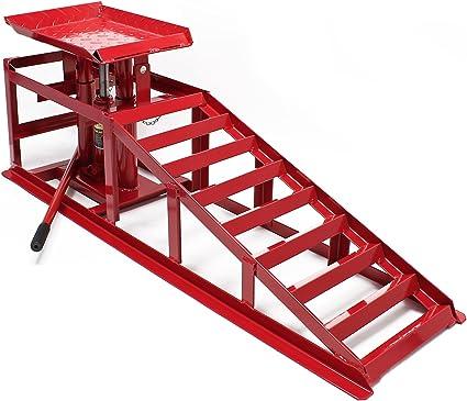 WilTec Rampa Acceso Gato Elevador hidraúlico 2000 kg Altura Regulable Ancho Rueda 225 mm Taller mecánico: Amazon.es: Coche y moto