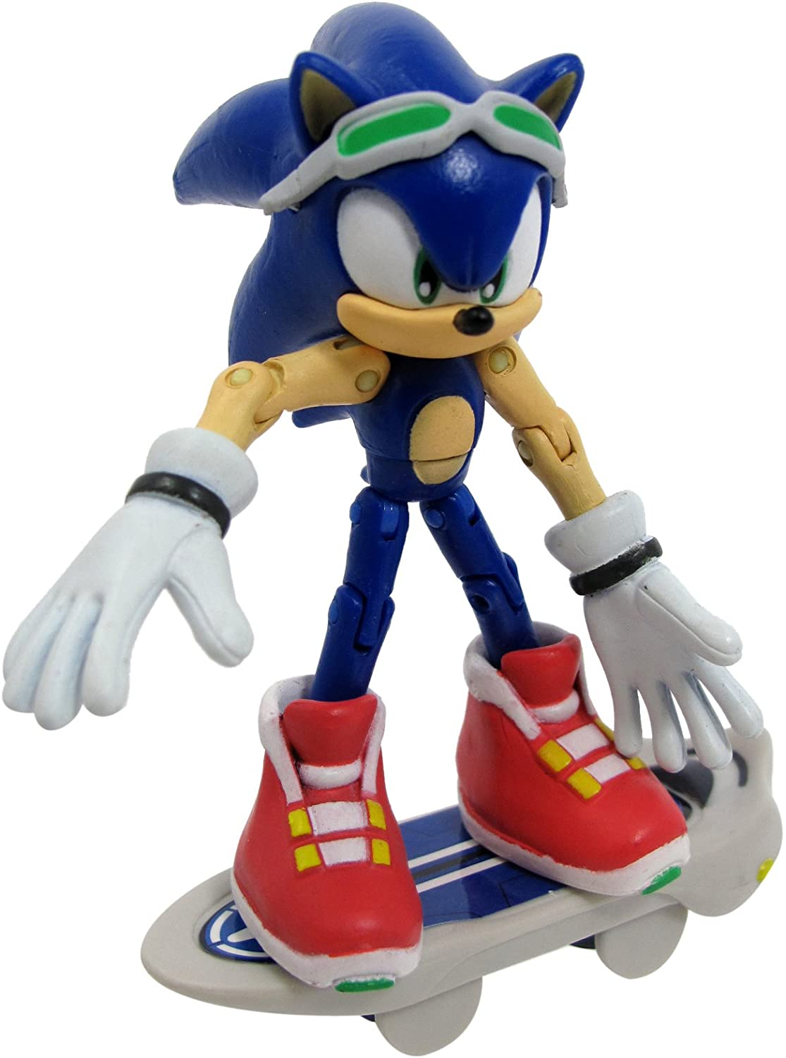 Amazon Com Sonic Free Riders The Hedgehog Action Figure Toys Games