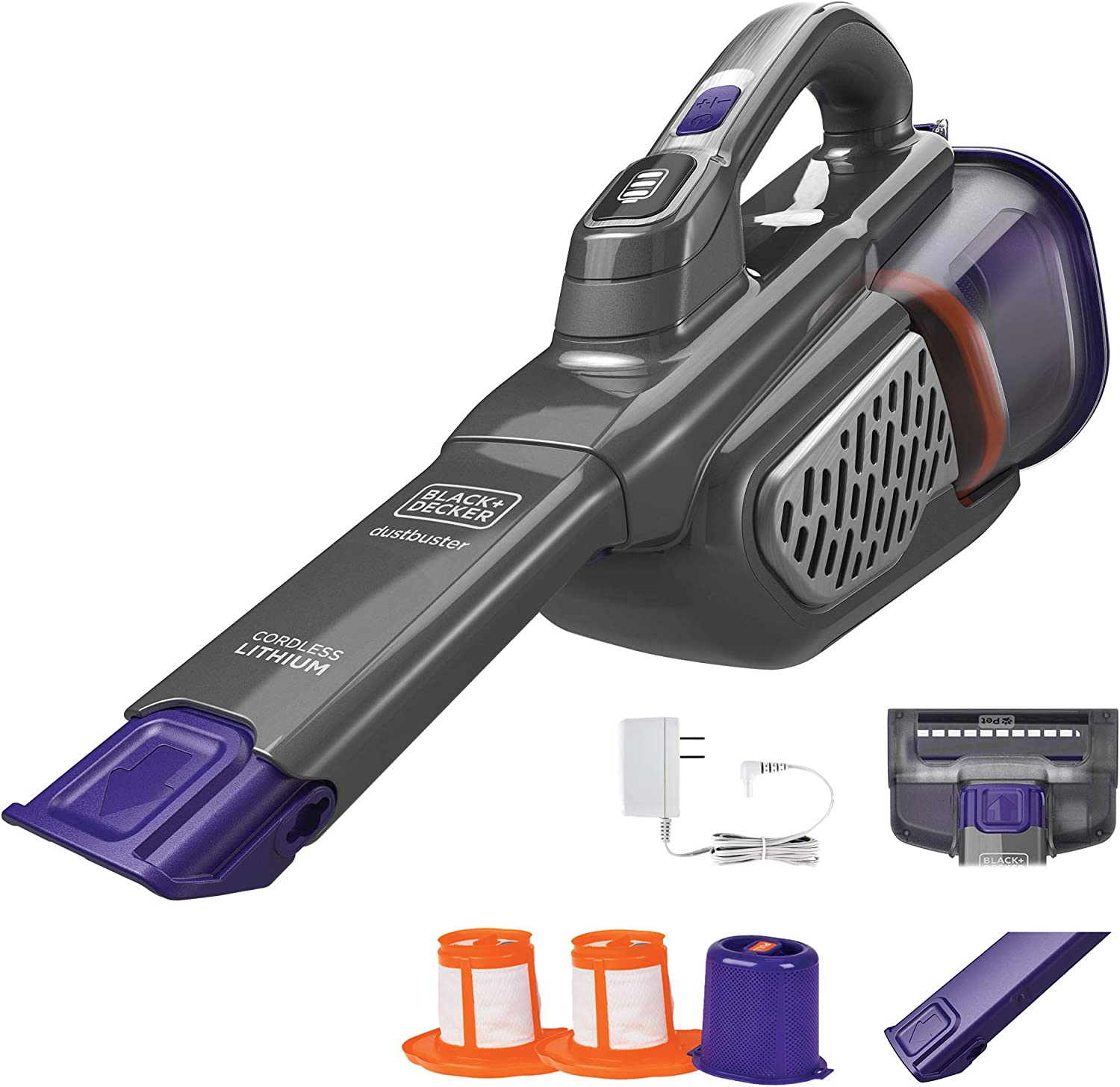 BLACK+DECKER 20V MAX Handheld Vacuum for Pets, Advanced Clean (HHVK515JP07APB)