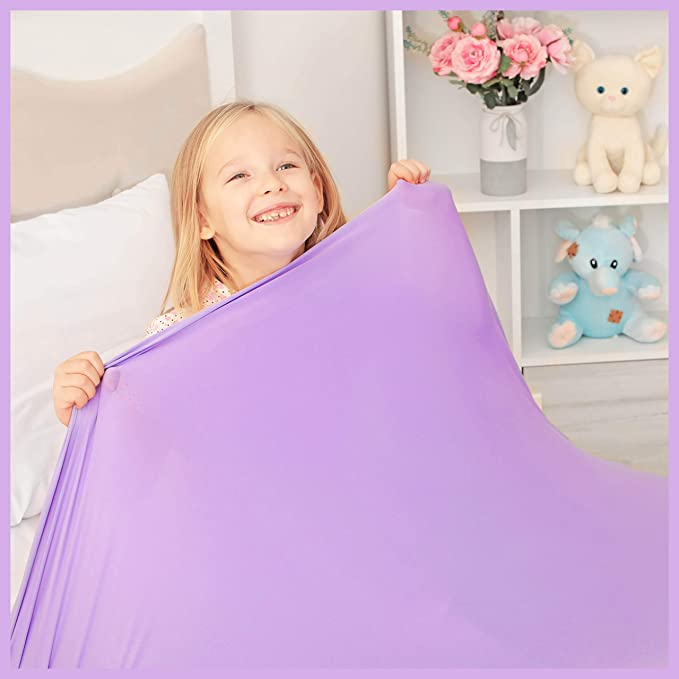 Amazon.com: Sensory Compression Blanket | Lycra Bed Sheet for Kids & Adults | Deep Relaxing Feeling, Release Oxytocin | Helps With: SDP, Anxiety, ADHD, Autism and More | Breathable, Cool & Stretchable | Twin Size: Health & Personal Care