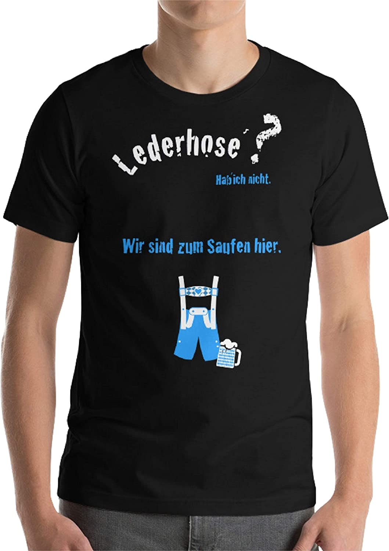 Camiseta para Traje Regional Oktoberfest, para Hombre, Color Negro, como Alternativa a la Camisa Tradicional Negro M: Amazon.es: Ropa y accesorios