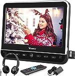 Vanku 10.1 Inch Car Headrest DVD Player with Mount, Headphone, HDMI
