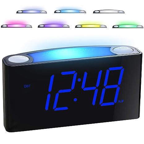 Diy 4 Digit Led Electronic Clock Kit Temperature Light Control Version Nightlight Time Display Large Screen Tables Desktop Clock Alarm Clocks