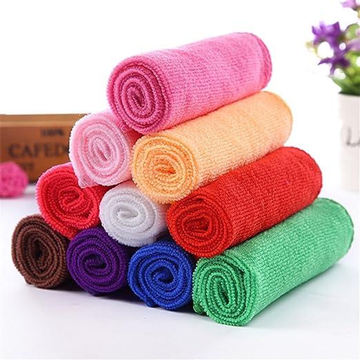 Zantec 10pcs toalla de tela de fibra de algodón cara duradera ...