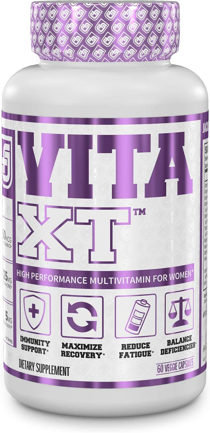 Vita-XT Multivitamin for Women - Womens Daily Multivitamin with Vitamin A, B6, B12, C, D, E, Iron, and Glutathione for Immune Support, Increased Vitality, and Reduced Fatigue - 60 Veggie Capsules