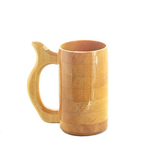 Amazoncom 12 Oz Yellow Heart Wood Mug Wooden Beer Mug Wood Beer