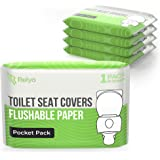 Toilet Seat Covers Paper Flushable (50 Pack) - XL Flushable Paper Toilet Seat Covers for Adults and Kids Potty Training…