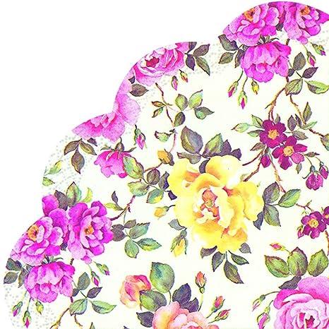 IHR Rondo molde de servilletas de papel Japón - veces es rosas crema de flores con