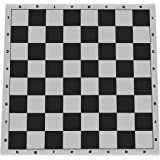 WE Games Tournament Roll Up Vinyl Chess Board- 20 in. Black and White