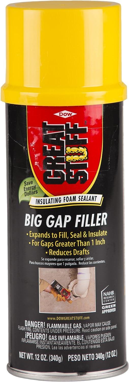 Great Stuff 282047 Big Gap Filler, 12 oz. (Pack of 8)