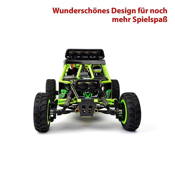 Teckey RC Coches 50 km / h Vehículo de escala del 1:12 4WD del carro de control remoto de alta velocidad de coches de carrera de 2,4 GHz Controlador: ...