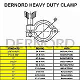 Dernord Stainless Steel Sanitary Clamp Single Pin