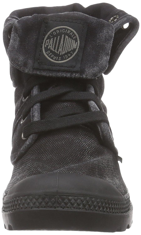 Palladium Damen Pallabrouse Baggy Combat Stiefel, Mehrfarbig Schwarz (schwarz/Metal (schwarz/Metal (schwarz/Metal 069) 4b3d3d
