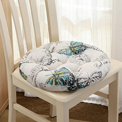 Qtqz Round Chair Cushion Autumn And Winter Padded Round Stool Rattan Cushion Simple Dormitory Futon Chair Pads F Diameter40cm 16inch