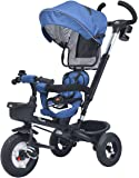 R for Rabbit Tiny Toes Benz - The Stylish and Luxurious Baby Tricycle for Kids/Baby with Reversible Seat (Blue)