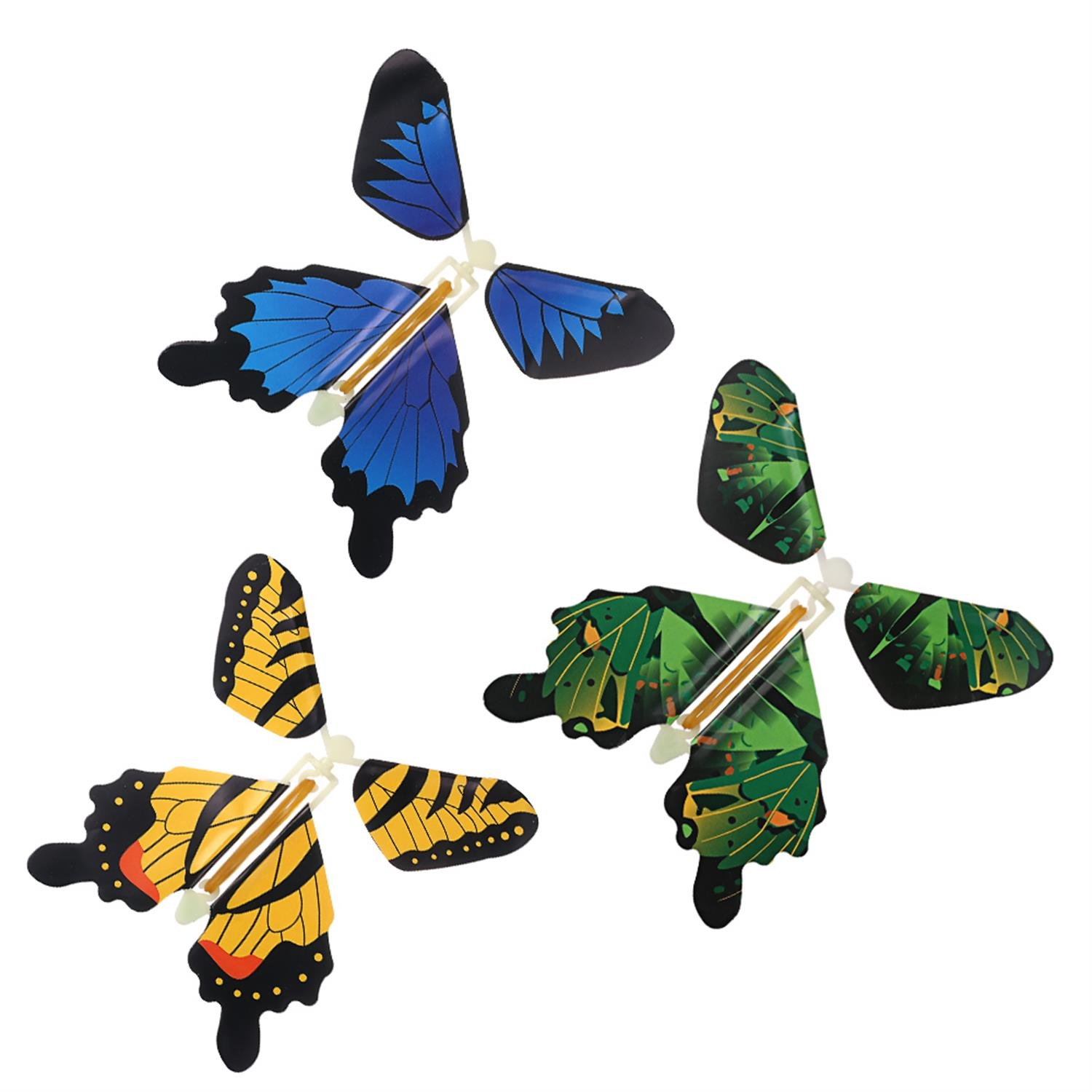 IDMSON Magic Butterfly Flying In The Book Fairy Toy Rubber Band Powered Wind Up Great Surprise