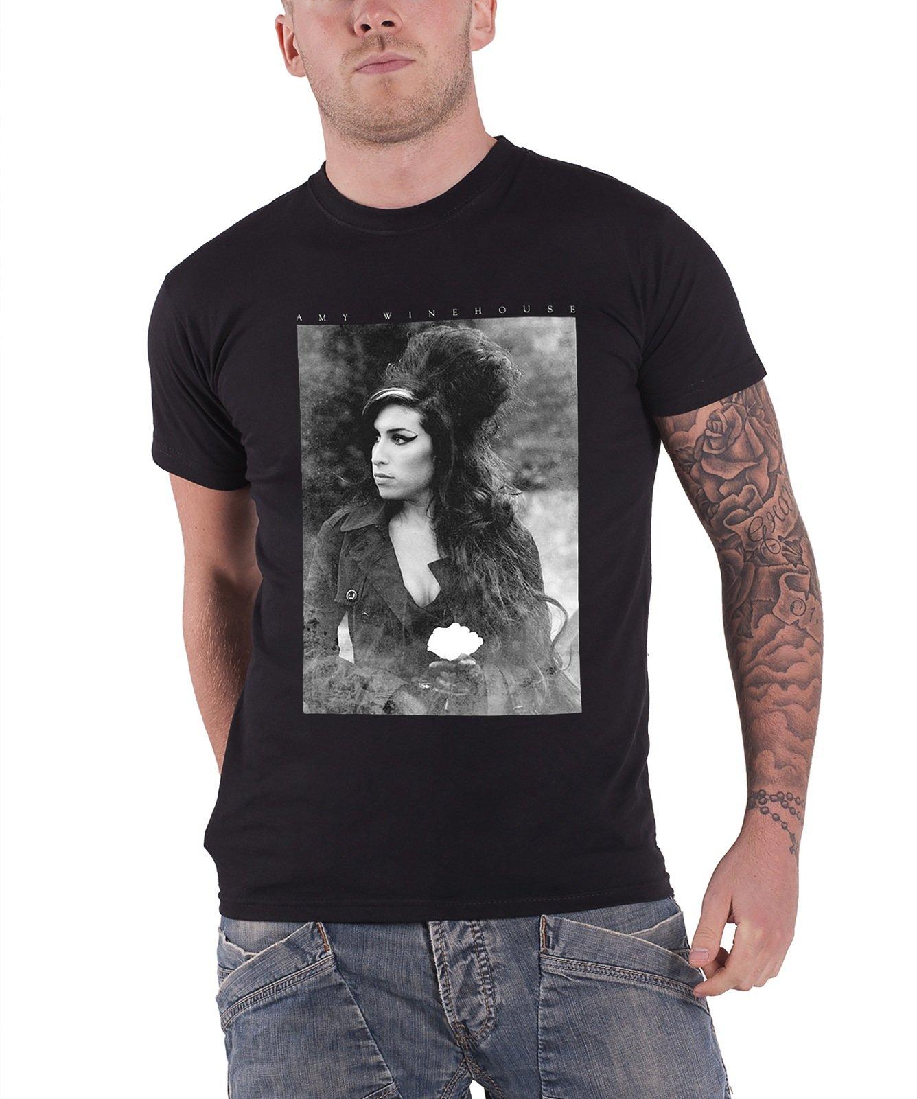 Rockoff Trade Men's Flower Portrait T-shirt, Black, Large
