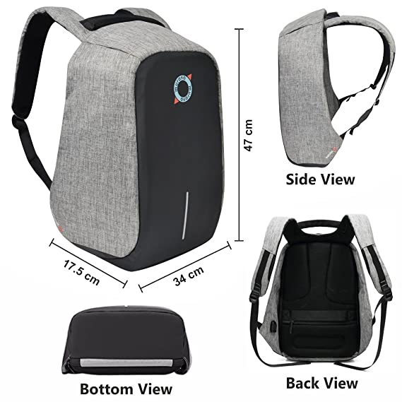 Murano Secure 10 LTR Laptop Backpack for 15.6 inch Laptop and Polyester  Water Resistance Backpack for Men and Women- Black  Amazon.in  Bags a4883ac03fd7c