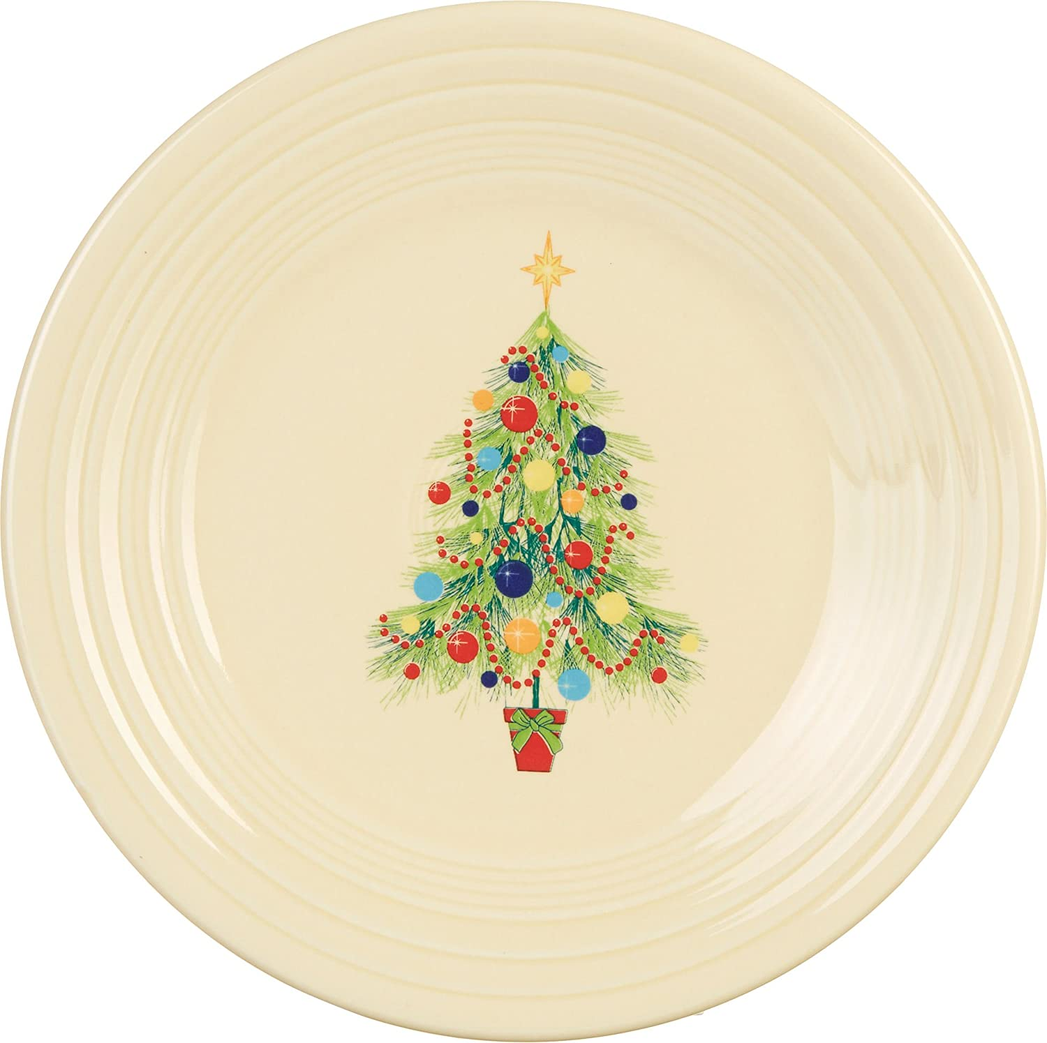 Fiesta 9-Inch Luncheon Plate, Christmas Tree Homer Laughlin 4659051