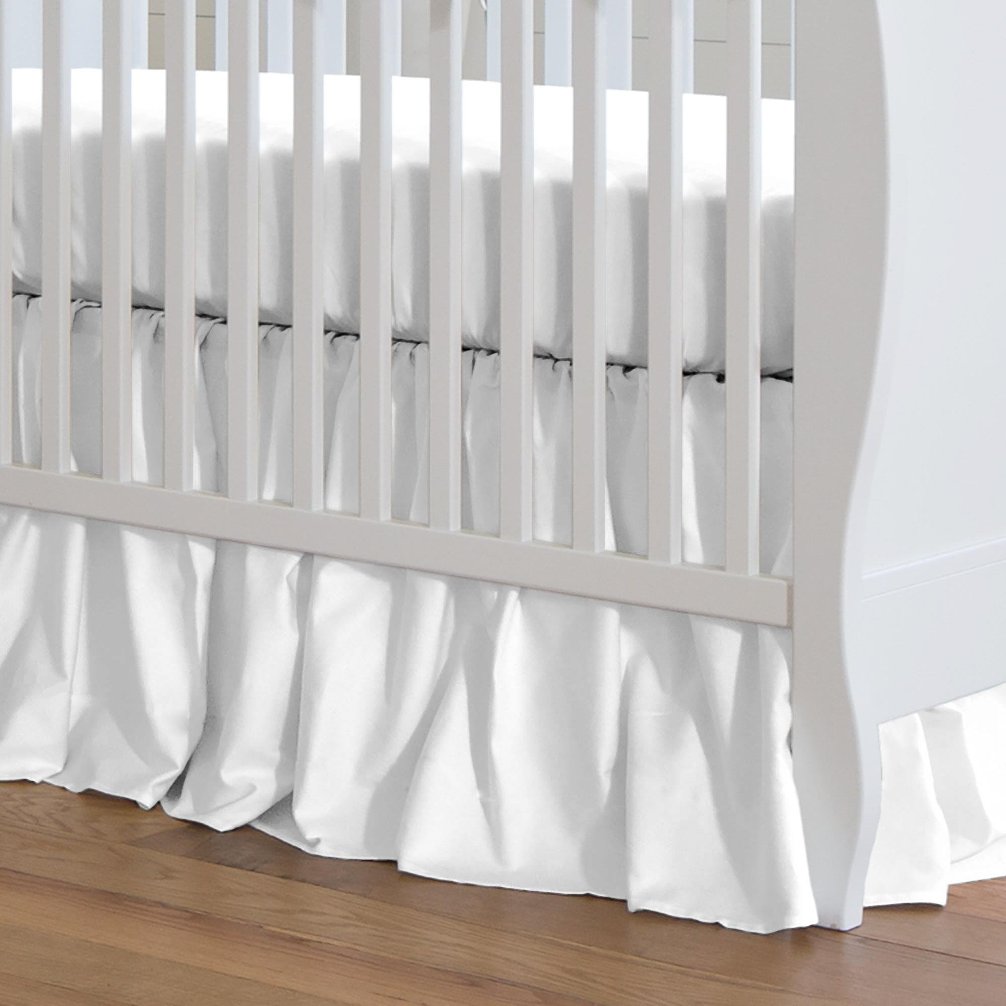 Carousel Designs Solid White Crib Skirt Gathered 20-Inch Length by Carousel Designs