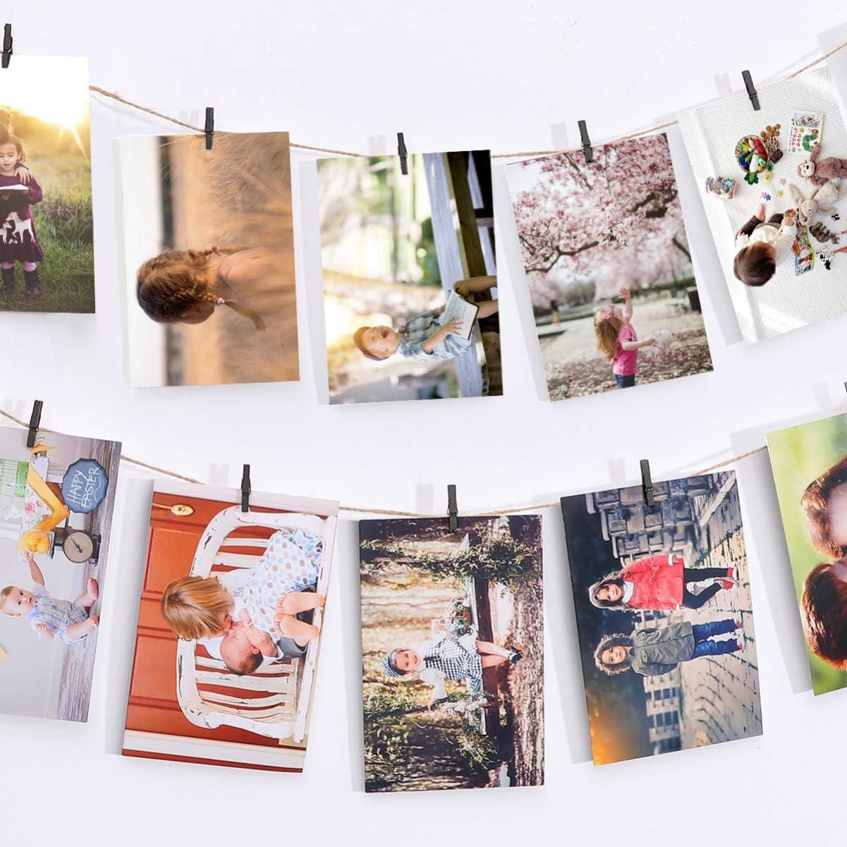 nero Vosarea 100 mollette da ufficio in legno per carta picchetti mini mollette da bucato indumenti artistici mollette per foto organizer foto